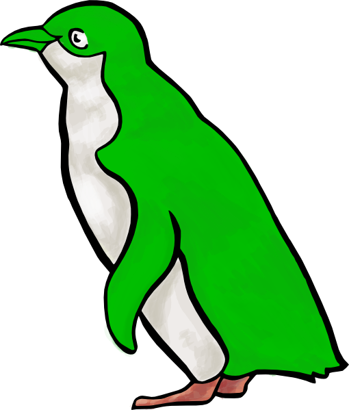 Green penguin clip art at clker com vector clip art online royalty