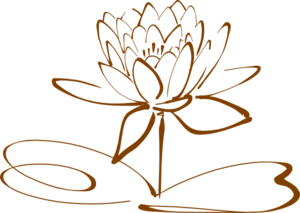 Lotus Flower - Mocha Clip Art