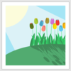 Tulips On A Hill Clip Art
