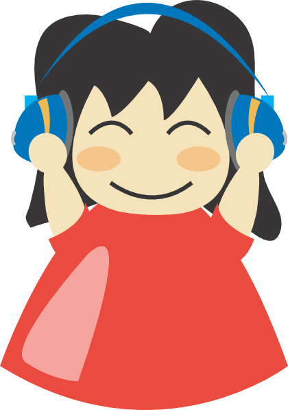 Girl With Headphones Clip Art at Clker.com - vector clip art ...