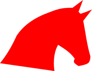 Red Horse Head Clip Art