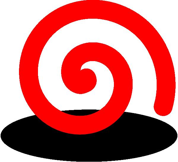 House Logo Clip Art At Clker Com: Fat Red Spiral Clip Art At Clker .com