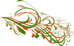 Orange Green Big Swirl Clip Art