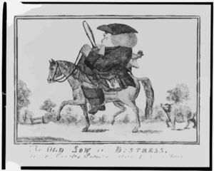 The Old Sow In Distress, Or The Country Parsons Return From Tithing Clip Art