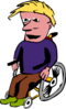 Man In Wheelchair Clip Art