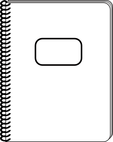white notepad clip art at clker com vector clip art online rh clker com notepad clipart download notepad clipart download