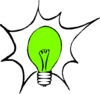 Green Light Bulb (molly Bullock) Clip Art