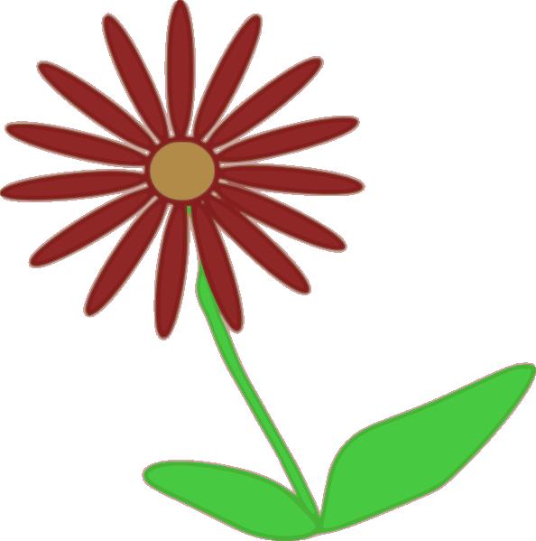 Red Flower Stem Clip Art at Clker.com - vector clip art ...