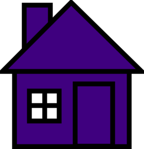 Very Purple House Clip Art