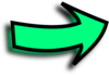 Right Arrow Comic Green Clip Art
