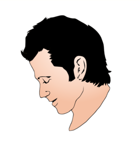 Man Face Side View Clip Art