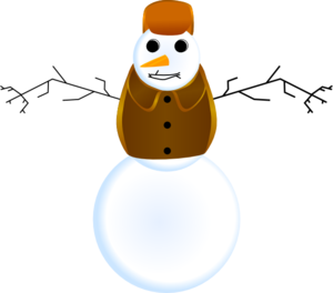 Snowman With Clothes Clip Art