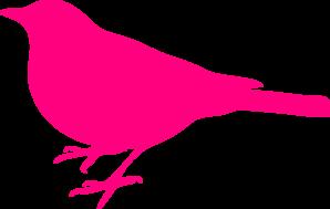 Birds pink. Bird silhouette clip art