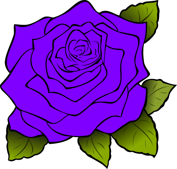 Purple Rose Clip Art at Clker.com - vector clip art online ...
