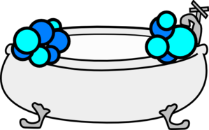 Bathtub With Bubbles Clip Art