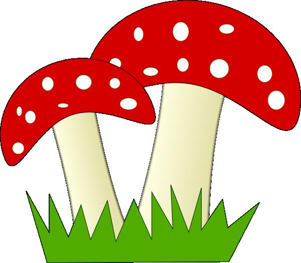 red and white dotted mushrooms clip art at clker com vector clip rh clker com mushroom clip art drawing mushroom clip art images
