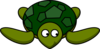 Turtle Looking Right-down Clip Art