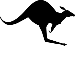 solid black kangaroo clip art at clker com vector clip art online rh clker com kangaroo clip art black and white Key Clip Black and White Art