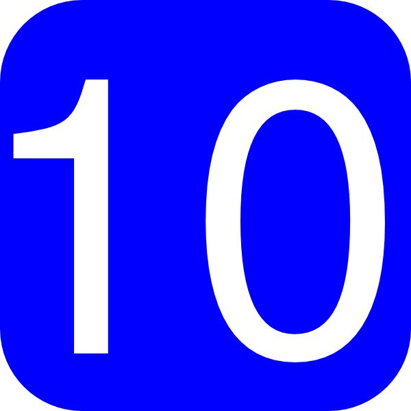 Blue  Rounded  Square With Number 10 Clip Art At Clker Com