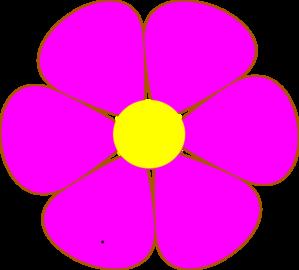 Pink flower clip art at clker vector clip art online royalty pink flower clip art mightylinksfo