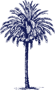 Navy Blue Date Palm Clip Art