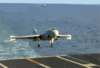 An Ea-6b Prowler Assigned To The  Patriots  Of Electronic Attack Squadron One Four Zero (vaq-140) Lands Aboard Uss George Washington (cvn 73). Clip Art