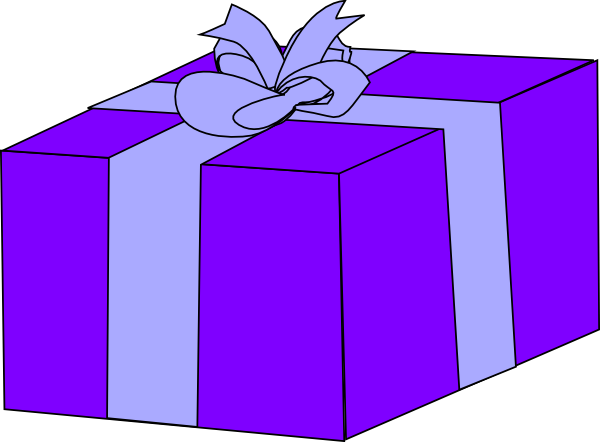 Purple gift box clip art at clker vector clip art online download this image as negle