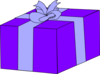 Purple Gift Box  Clip Art