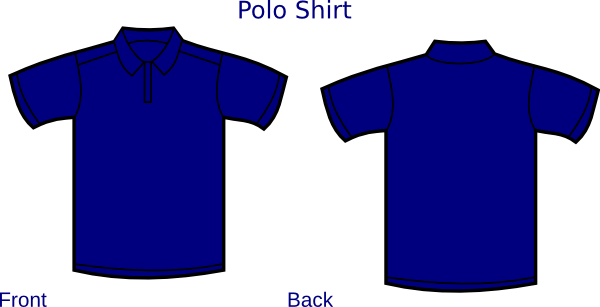 the gallery for gt blue polo shirt front and back