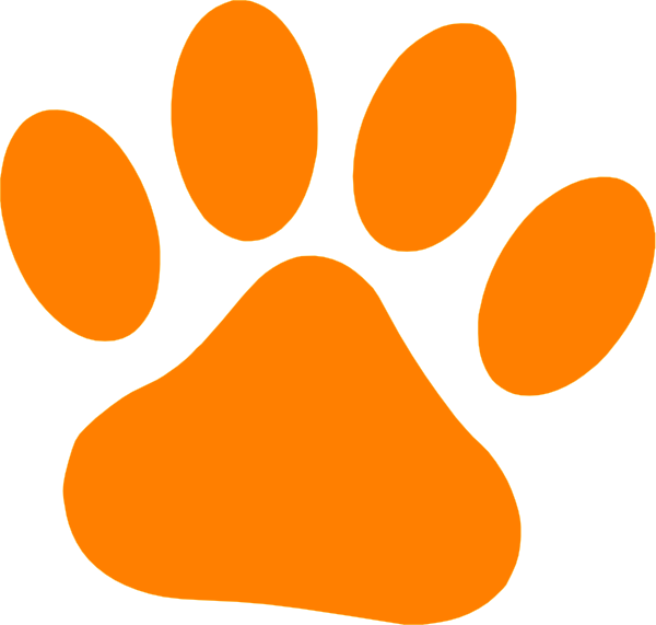 Orange Cat Paw Clip Art at Clker.com - vector clip art online, royalty ...