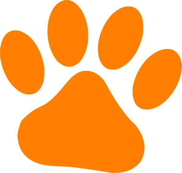 Orange Cat Paw Clip Art at Clker.com - vector clip art online, royalty ...