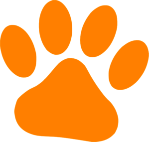 Orange Cat Paw Clip Art