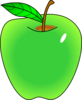 Shaded Green Apple Clip Art