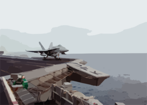 F/a-18 Launches From Uss John F. Kennedy Clip Art