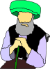 Sitting Sheikh Elderly Person Clip Art