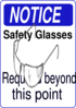 Non-landscape Safety Glasses Notice Clip Art