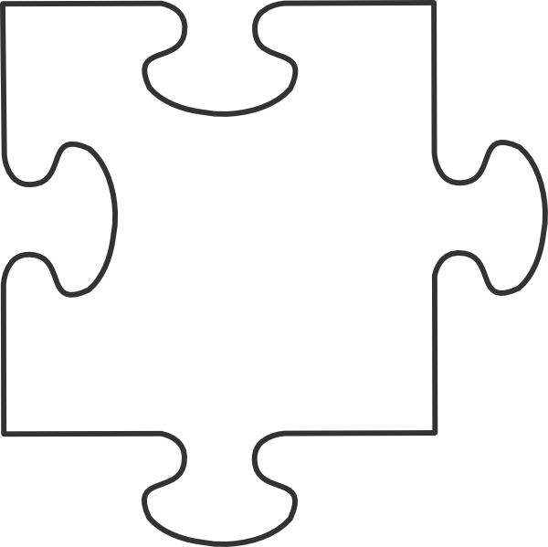 White puzzle piece clip art at vector clip art - Puzzle dessin ...