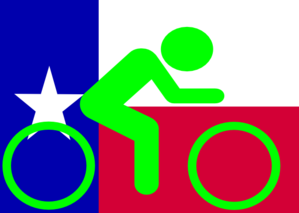Texas Flag Bike Clip Art