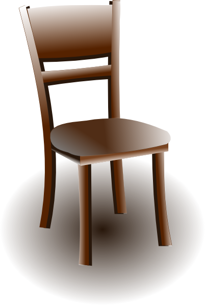 Wood chair clip art at clker vector online