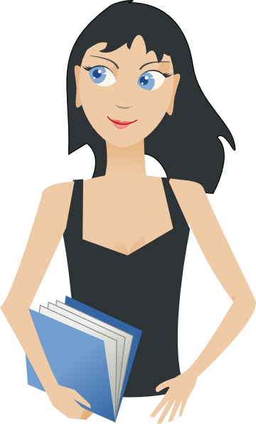 Student - Girl With Book Clip Art at Clker.com - vector ...