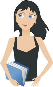 Student - Girl With Book Clip Art