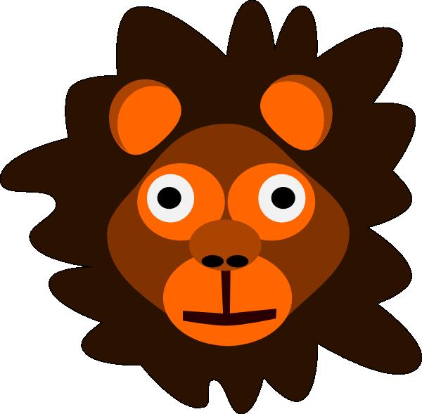 Lion cartoon head - photo#20