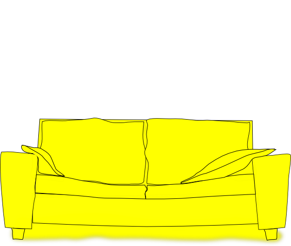 Yellow Couch Clip Art At Clker Com Vector Clip Art