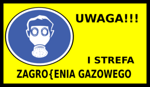 I Gas Hazardous Area Clip Art