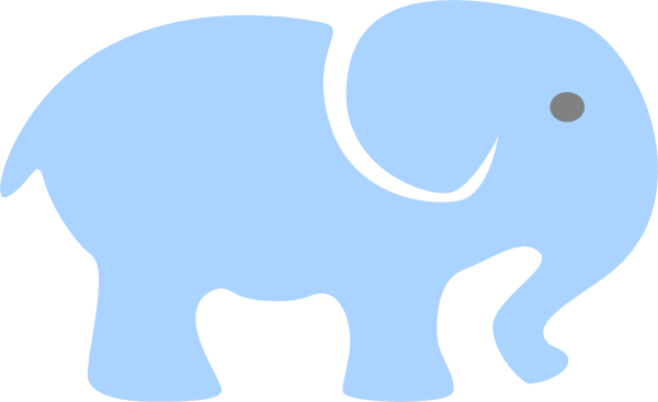 clipart elephant outline - photo #50