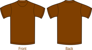 Brown Plain Shirt Clip Art
