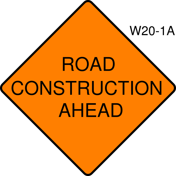 road construction ahead clip art at clkercom vector