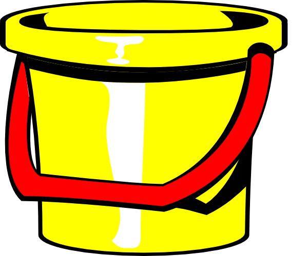 Bucket Yellow Clip Art at Clker.com  vector clip art online, royalty