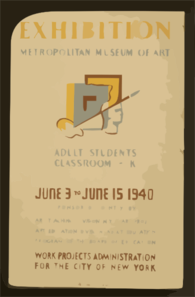 Exhibition - Metropolitan Museum Of Art Adult Students Classroom - K. Clip Art