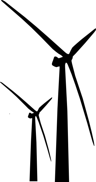 black wind turbine 2 clip art at clkercom vector clip